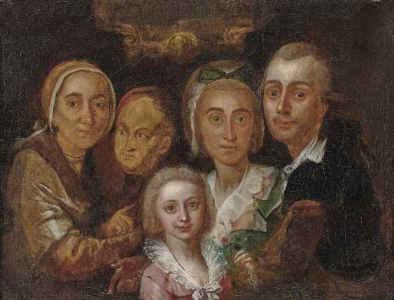 German (?), 2. Half of 18. Century. Family portrait - photo 1