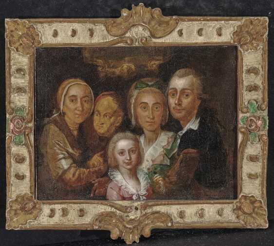 German (?), 2. Half of 18. Century. Family portrait - photo 2