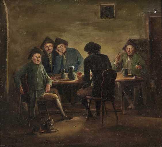 Herrlein, Johann Andreas, kind of. Zechende farmers, card players in tavern - photo 1