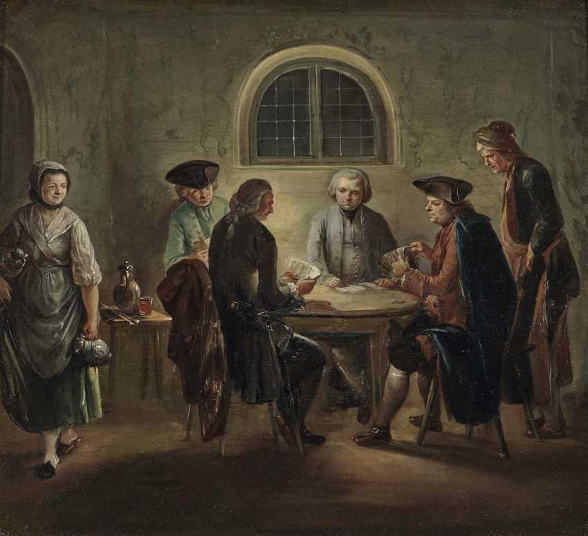Herrlein, Johann Andreas, kind of. Zechende farmers, card players in tavern - photo 2