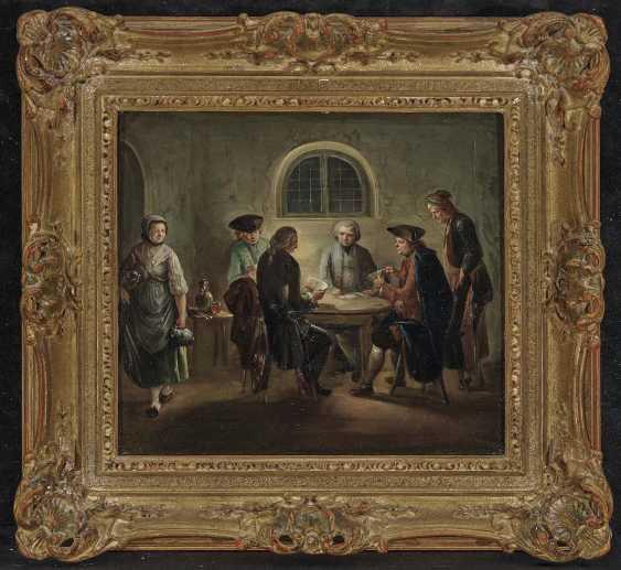 Herrlein, Johann Andreas, kind of. Zechende farmers, card players in tavern - photo 4