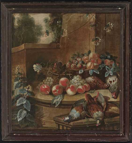 Flemish (?), 18. Century. Still life with fruits and slain birds - photo 2