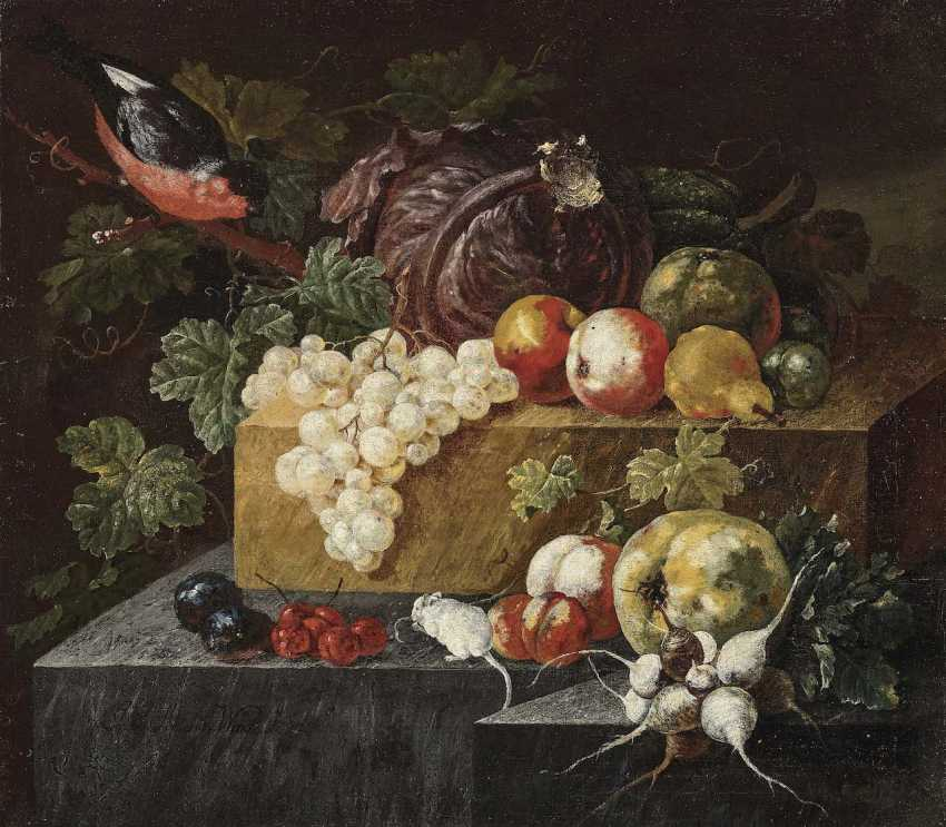 Winck (Wink), Johann Amandus. Still life with birds and white mice - photo 1