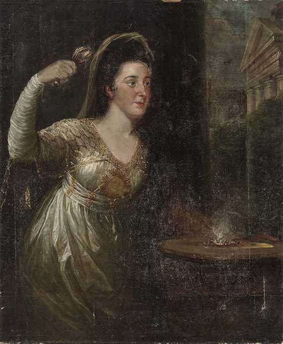 German (?) to 1800. Portrait of a lady as a vestal virgin - photo 1