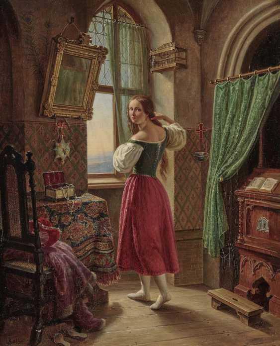 Kolbe (Carl Wilhelm Kolbe d. J., 1781 Berlin 1853, ibid., ?), C.. a Young woman at the window - photo 1