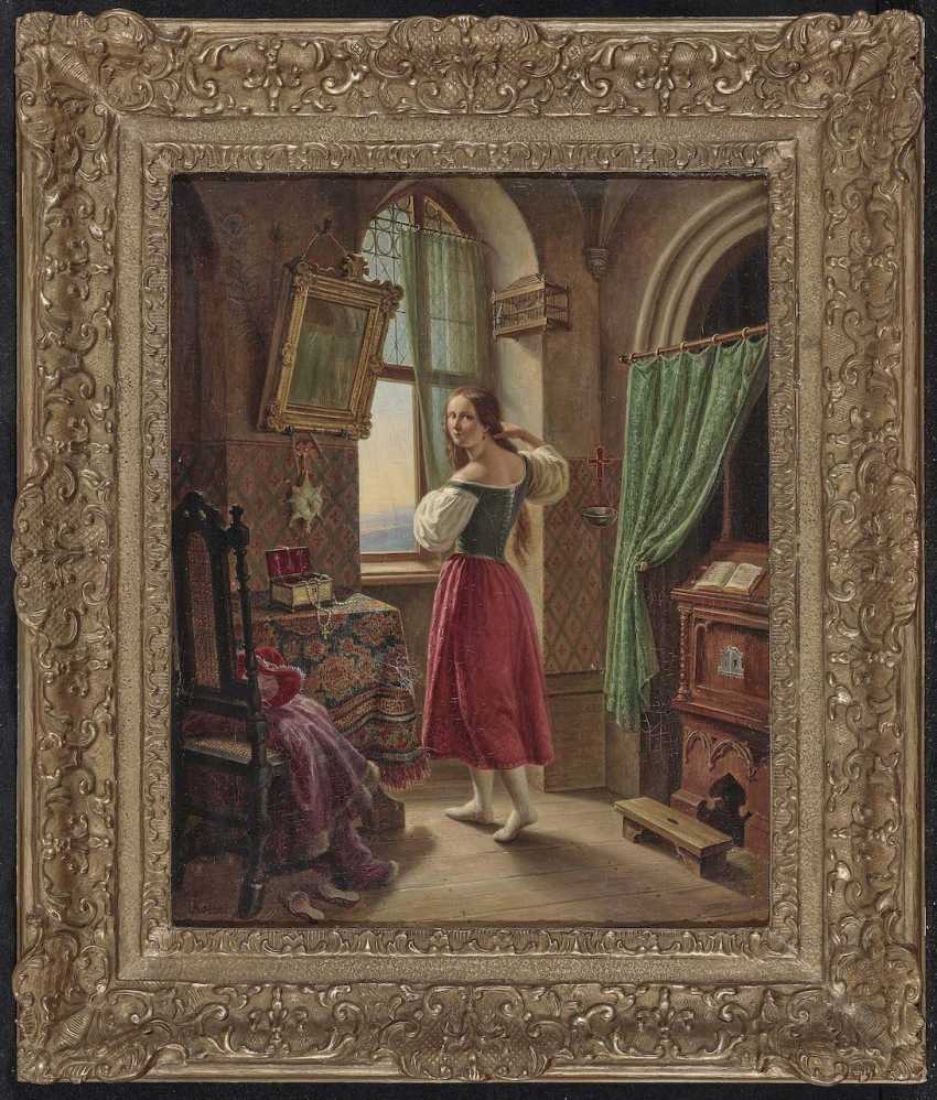 Kolbe (Carl Wilhelm Kolbe d. J., 1781 Berlin 1853, ibid., ?), C.. a Young woman at the window - photo 2