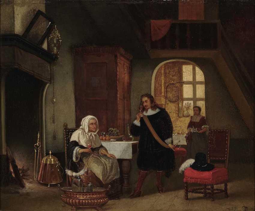 Hove, Hubertus van. Interieur mit Figurenstaffage - photo 1