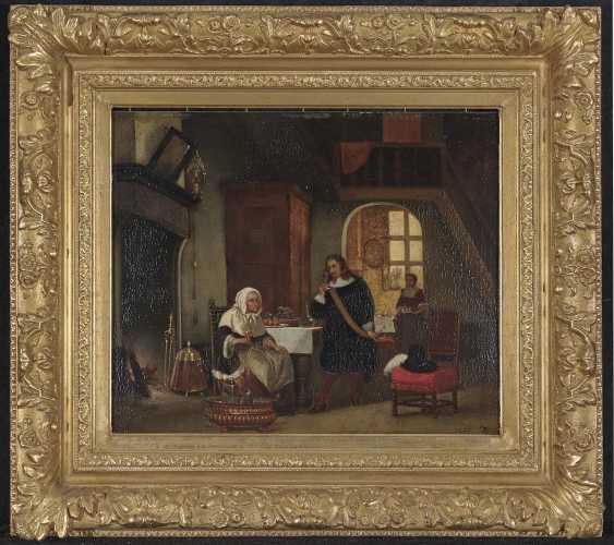 Hove, Hubertus van. Interieur mit Figurenstaffage - photo 2