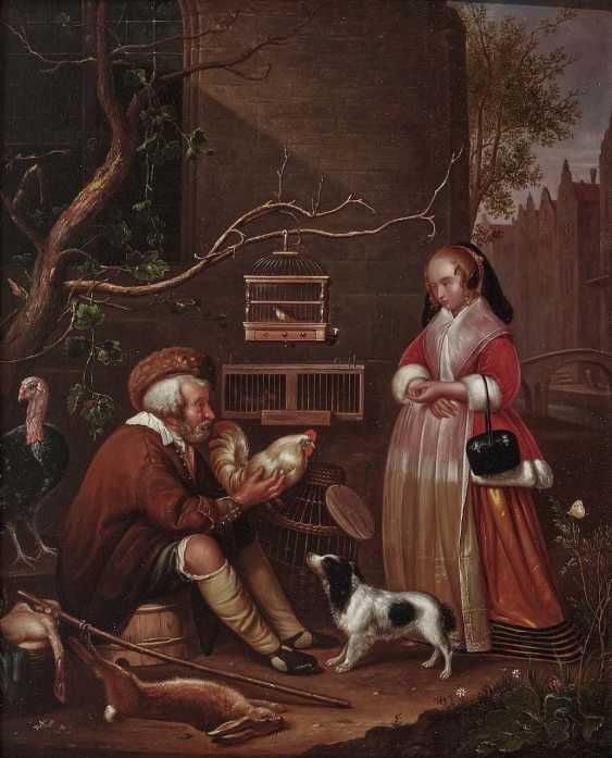 "Schendel, Petrus van, attributed to. The poultry seller (""Le Marchand de for game and wildlife preservation"") - photo 1"