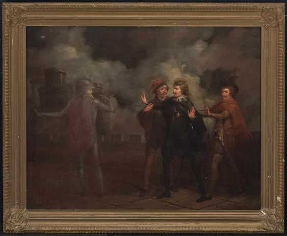 Denmark (?), 19. Century . Scene from Hamlet, Hamlet encounters the Ghost of his father - photo 2