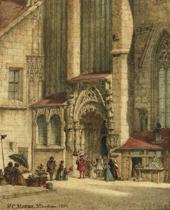 Mayer, Friedrich Carl. The Brautthüre at the St. sebaldus Church in Nuremberg - photo 1