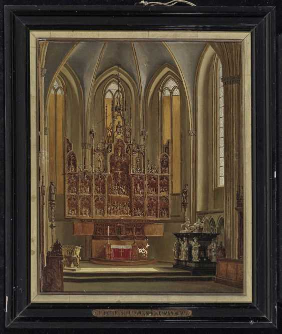 Heger, Heinrich Anton, attributed to. The Brüggemann Altar in Schleswig Cathedral - photo 2