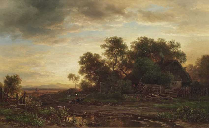 Morgenstern, Christian Ernst Bernhard. Evening mood at lake main - photo 1