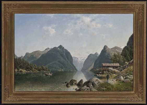 Duntze, Johannes Bartholomäus. Fjord landscape with figure staffage - photo 2