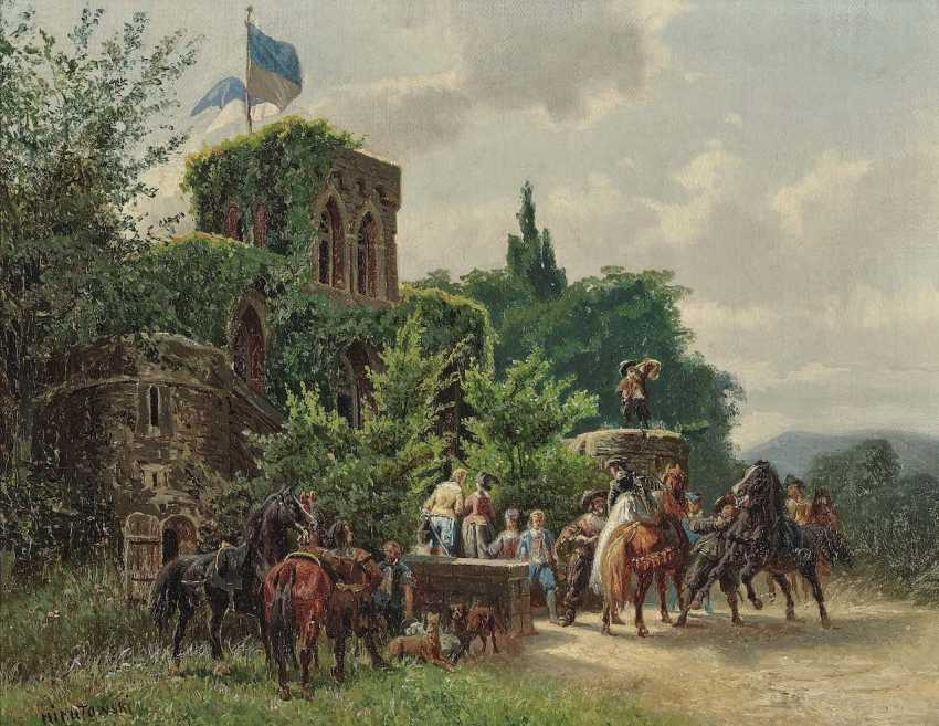 Nikutowski, Arthur (Arthur Severin). Hunting party before a castle - photo 1
