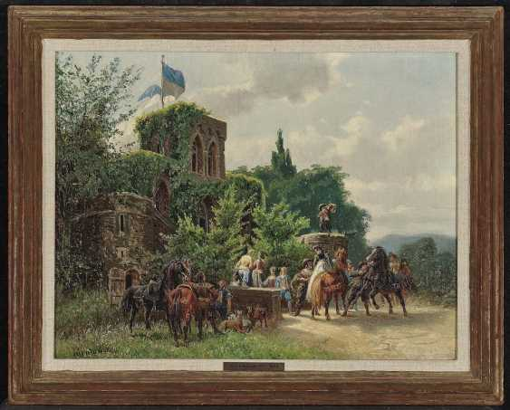 Nikutowski, Arthur (Arthur Severin). Hunting party before a castle - photo 2