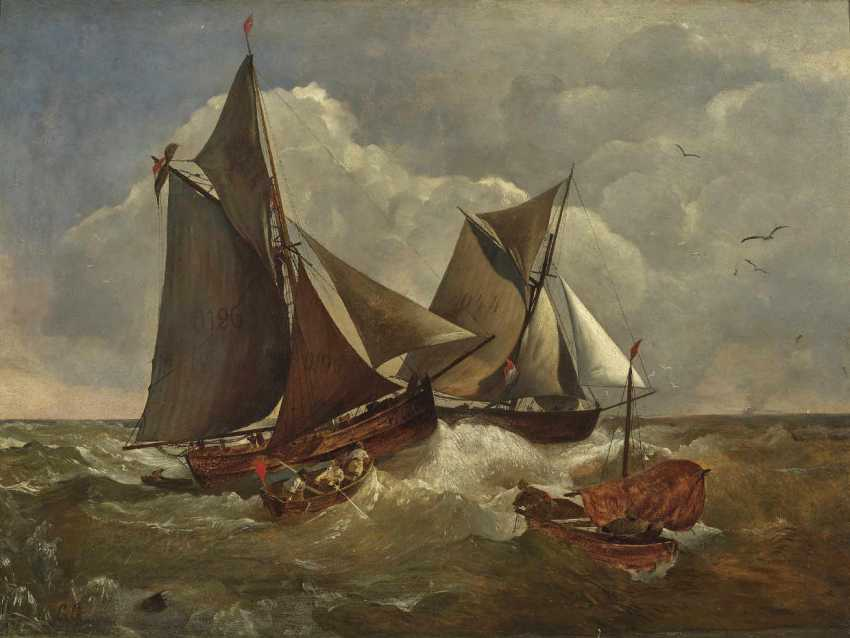 Achenbach, Andreas. Sailing ships in stormy seas - photo 1