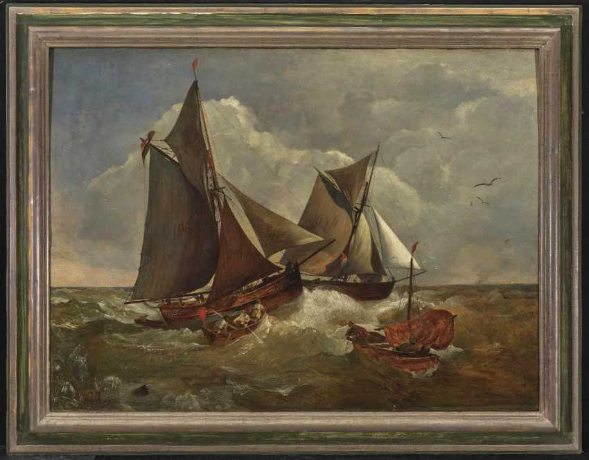 Achenbach, Andreas. Sailing ships in stormy seas - photo 2