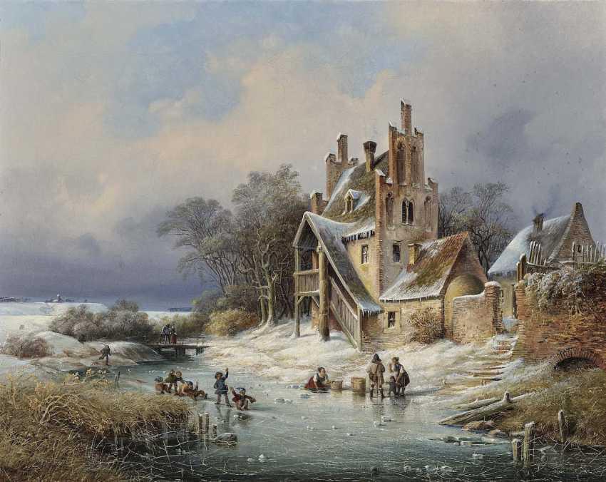 Schönfeld, Heinrich. Winter landscape with HOMESTEAD - photo 1