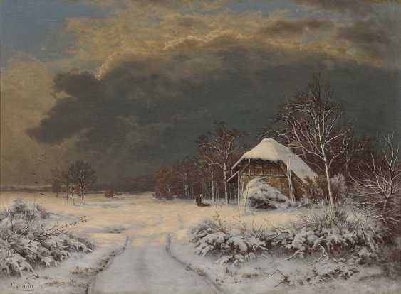 Chevalier, Ferdinand. Winter landscape with brushwood collector - photo 1