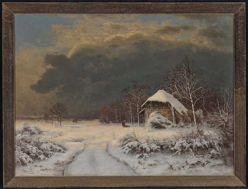 Chevalier, Ferdinand. Winter landscape with brushwood collector - photo 2