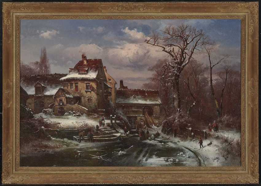 Veit, Hugo. Winter landscape with farmhouse and figure staffage - photo 2