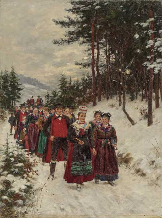 Bunny Man, Wilhelm. Bridal procession in Winter - photo 1