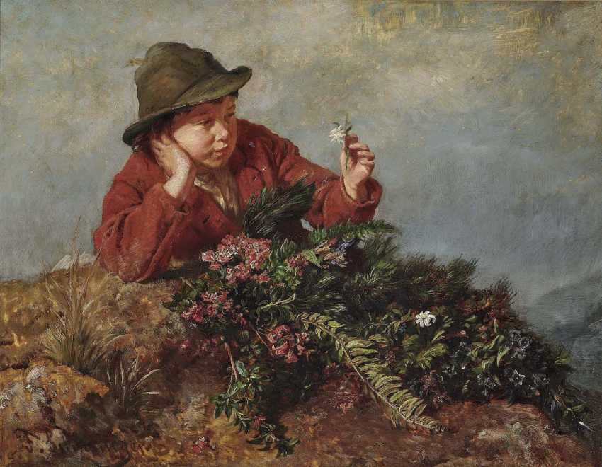 Schlesinger, Felix. A boy with wild herbs - photo 1