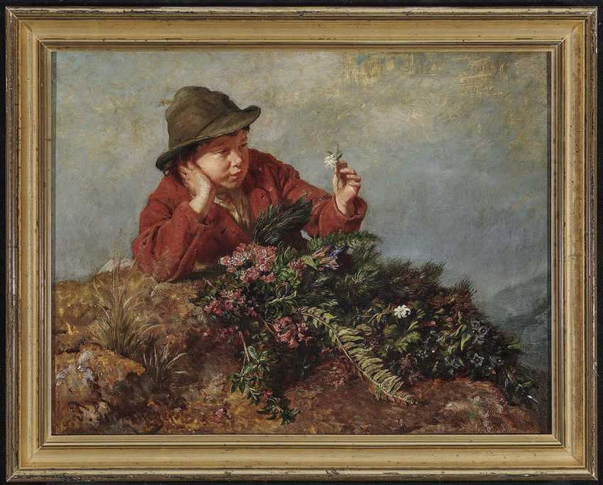 Schlesinger, Felix. A boy with wild herbs - photo 2