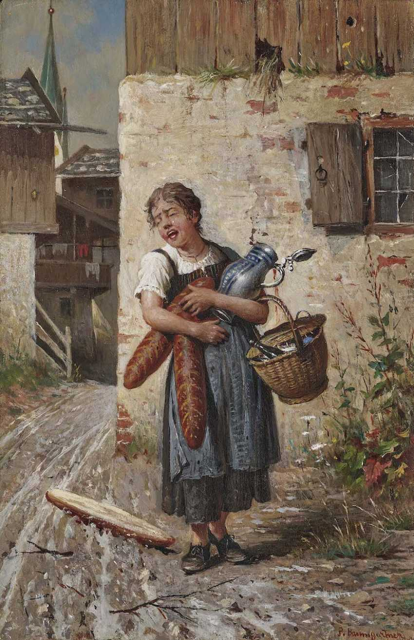 Baumgartner, Peter. Girl with loaves of bread - photo 1