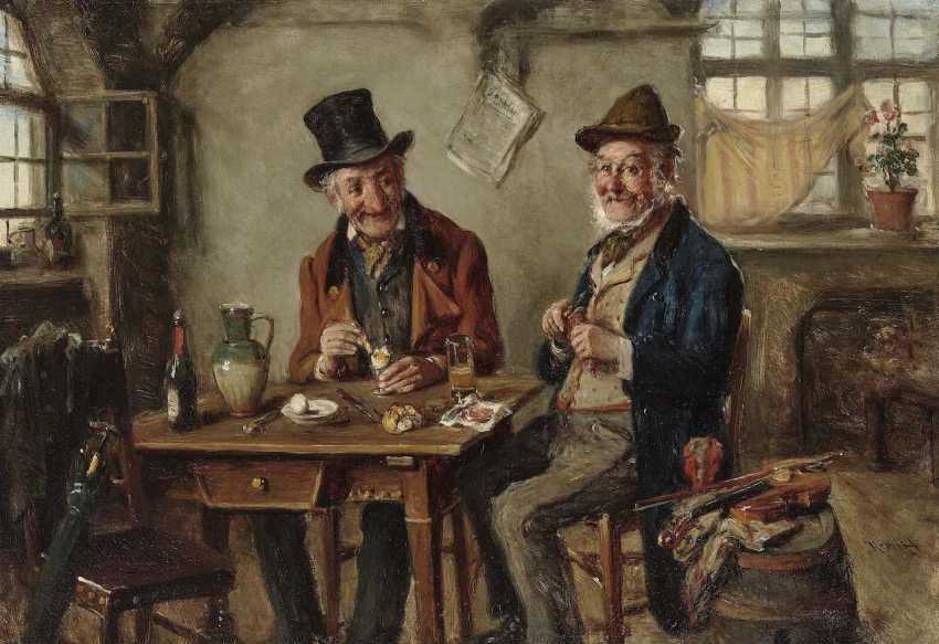 Kern, Hermann Armin. Vespers in the tavern - photo 1