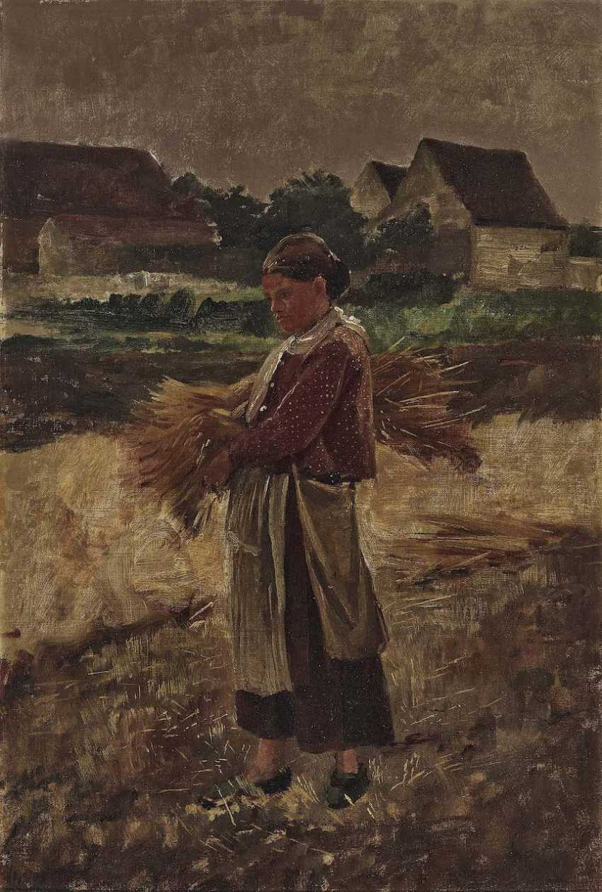 Schrader, Bertha. Farmer with Ears of corn - photo 1