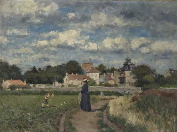 Vignon, Victor Alfred Paul. Mother with child in a meadow landscape - photo 1
