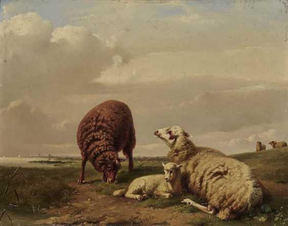 Jones, Adolphe Robert. Sheep on the pasture - photo 1