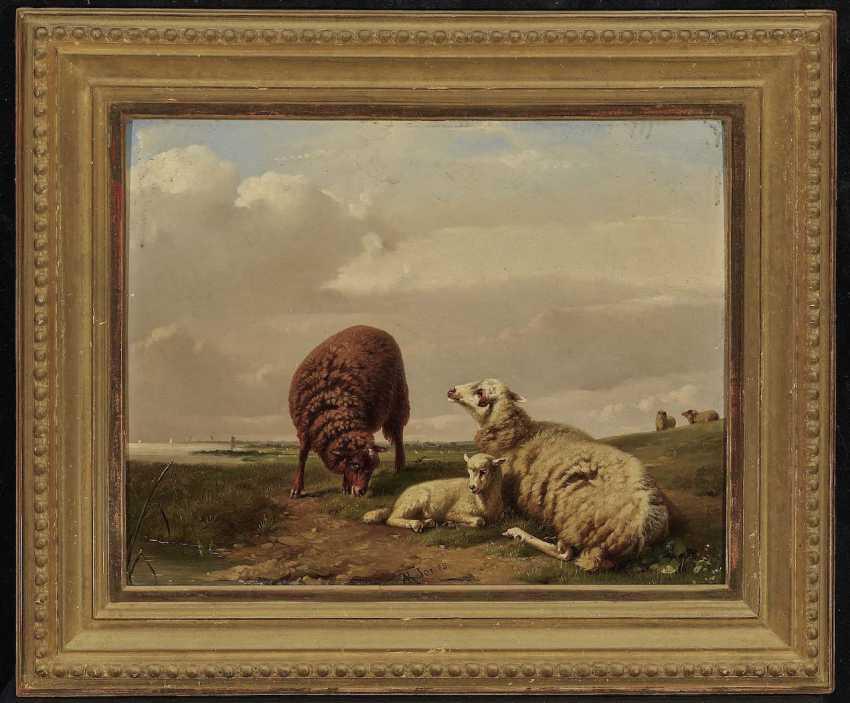 Jones, Adolphe Robert. Sheep on the pasture - photo 2