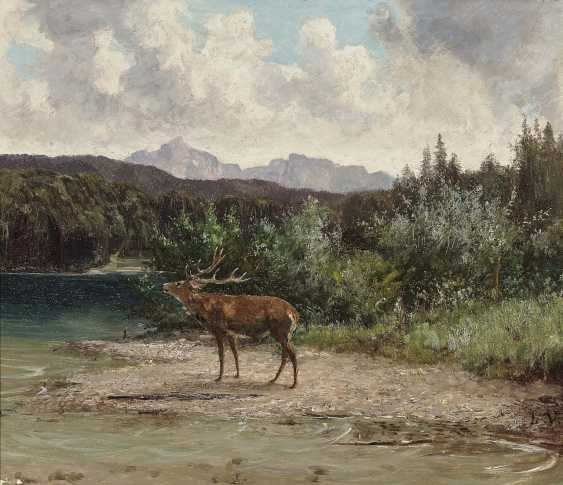 Voltz, Ludwig. The deer on the shore - photo 1