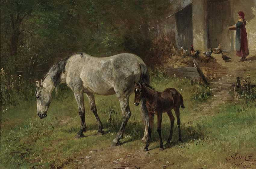 Voltz, Ludwig. Horse with foal - photo 1