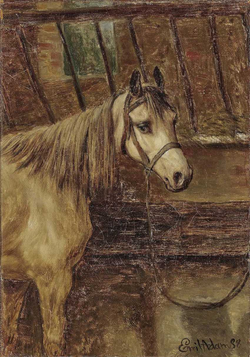 Adam, Emil. Horse in the stable - photo 1