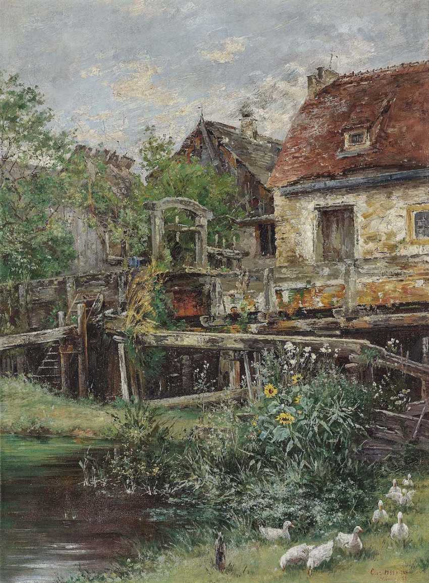 Herrmann, Carl Gustav. Farmhouse with ducks - photo 1