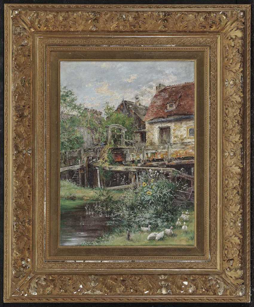 Herrmann, Carl Gustav. Farmhouse with ducks - photo 2