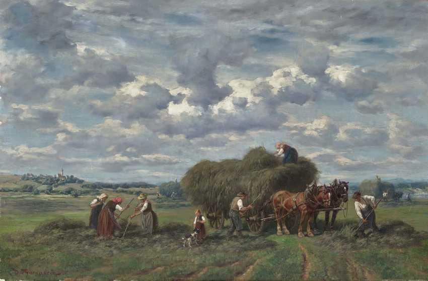Thomassin, Désiré. Farmers in the hay harvest - photo 1