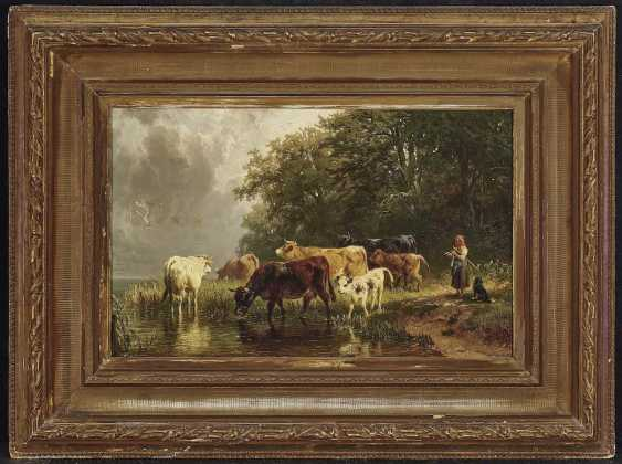 Voltz, Johann Friedrich. Shepherdess with cattle on the water - photo 2