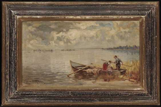 Wopfner, Josef. Fishing boat on the shore of lake Chiemsee - photo 2