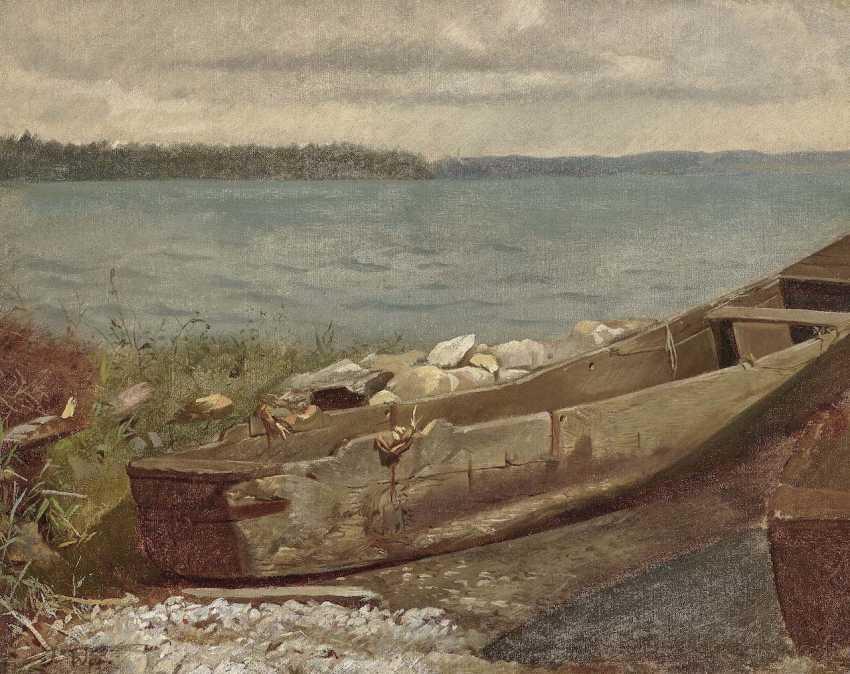 Wopfner, Josef. Kahn am Chiemsee-Ufer - photo 1