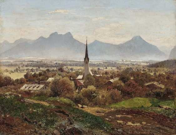 Waagen, Adalbert. View of Brannenburg - photo 1