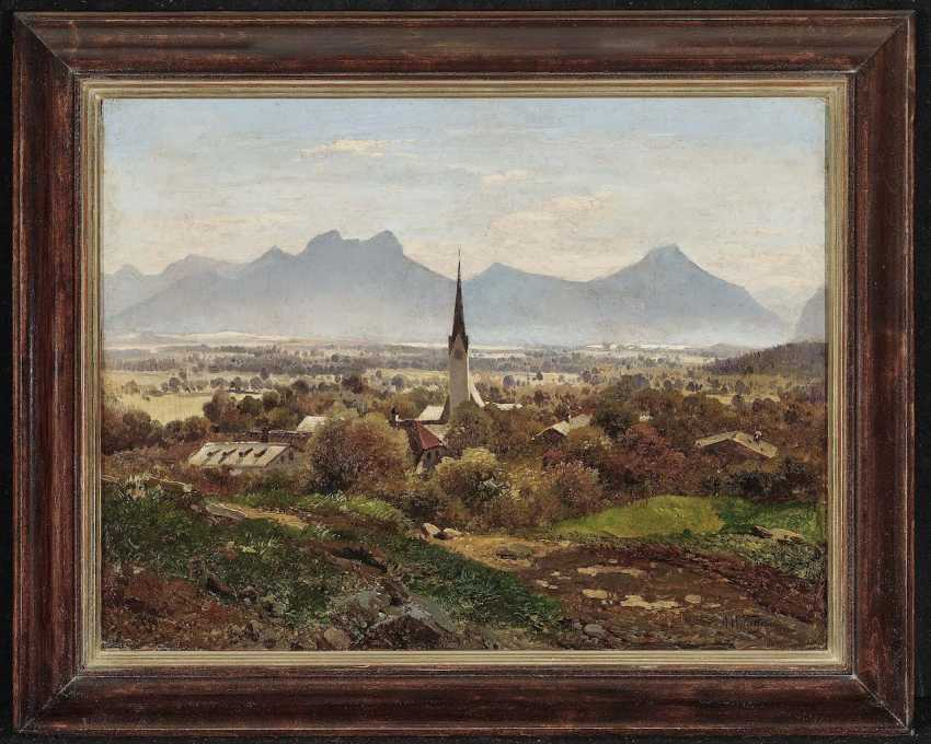 Waagen, Adalbert. View of Brannenburg - photo 2