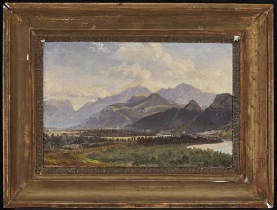 Reinhold, Karl. View of Hallein against the High Göll - photo 2