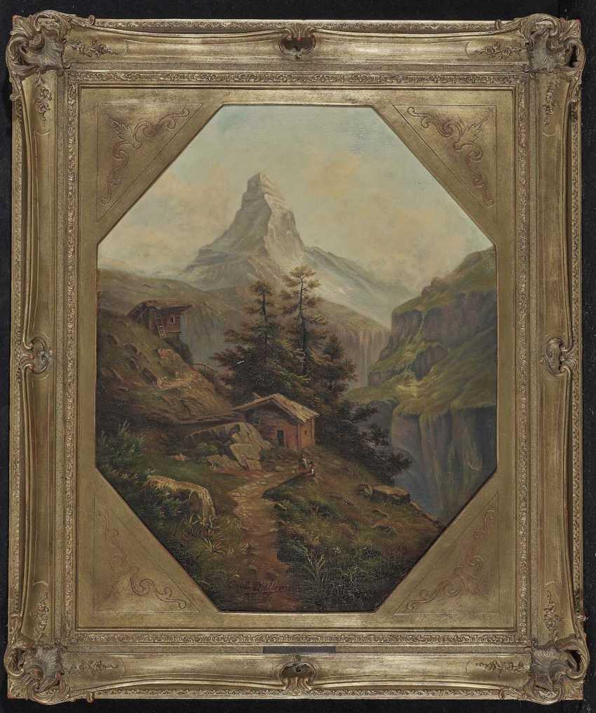 Millner, Carl. Mountain landscape with views of the Matterhorn - photo 2