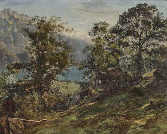 Schiess, Traugott, attributed to. Wooded Mountain Landscape - photo 1