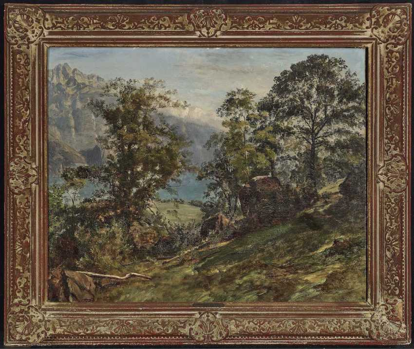 Schiess, Traugott, attributed to. Wooded Mountain Landscape - photo 2